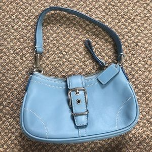 Coach Bags - Authentic Blue Coach Buckle Mini Hampton Demi Bag